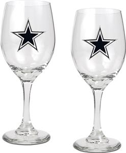NFL Dallas Cowboys 2 Piece Wine Glass Set