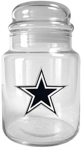 NFL Dallas Cowboys Glass Candy Jar