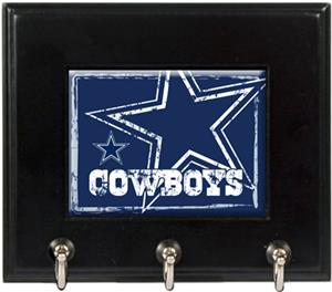 NFL Dallas Cowboys Wood Keyhook Rack