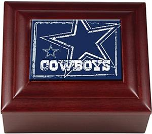 NFL Dallas Cowboys Mahogany Keepsake Box