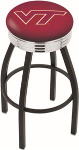 Virginia Tech University Ribbed Ring Bar Stool