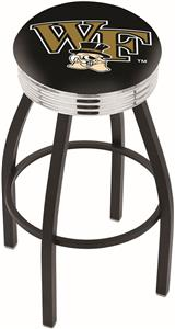 Wake Forest University Ribbed Ring Bar Stool