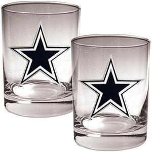 NFL Dallas Cowboys 14oz 2 piece Rocks Glass Set