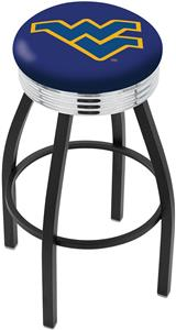 West Virginia University Ribbed Ring Bar Stool