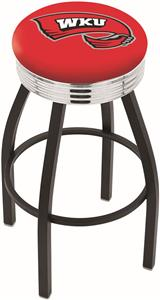 Western Kentucky University Ribbed Ring Bar Stool