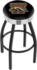 Western Michigan University Ribbed Ring Bar Stool