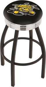 Wichita State University Ribbed Ring Bar Stool