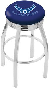 United States Air Force Ribbed Ring Bar Stool