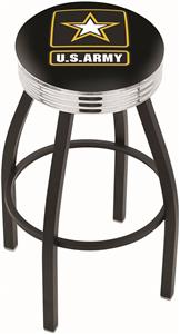 United States Army Ribbed Ring Bar Stool