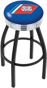 United States Coast Guard Ribbed Ring Bar Stool