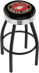 United States Marine Corps Ribbed Ring Bar Stool