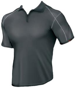 WSI Sports Unisex Microtech Zipper Spyder Polo