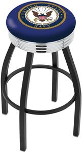United States Navy Ribbed Ring Bar Stool