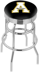 Appalachian State Ribbed Double-Ring Bar Stool