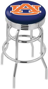 Auburn University Ribbed Double-Ring Bar Stool