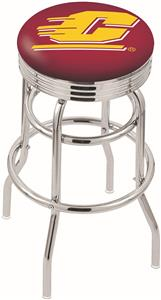 Central Michigan Univ Ribbed Double-Ring Bar Stool