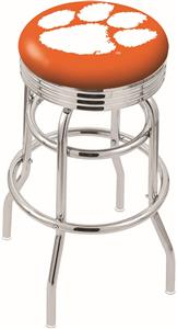 Holland Clemson Ribbed Double-Ring Bar Stool