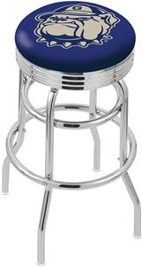 Georgetown University Ribbed Double-Ring Bar Stool
