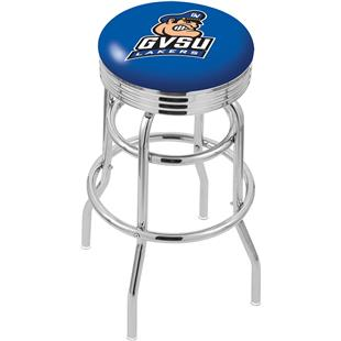 Grand Valley State Ribbed Double-Ring Bar Stool