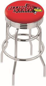Illinois State Univ Ribbed Double-Ring Bar Stool