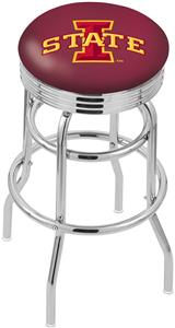 Iowa State University Ribbed Double-Ring Bar Stool