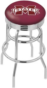 Mississippi State Univ Ribbed Double-Ring Stool