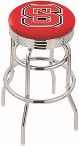North Carolina State Univ Ribbed Double-Ring Stool