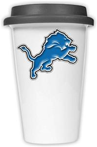 NFL Detroit Lions Ceramic Cup with Black Lid