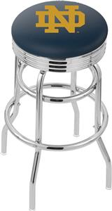 Notre Dame  (ND) Ribbed Double-Ring Bar Stool