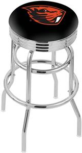 Oregon State Univ Ribbed Double-Ring Bar Stool