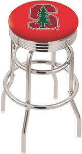 Stanford University Ribbed Double-Ring Bar Stool