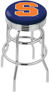 Syracuse University Ribbed Double-Ring Bar Stool