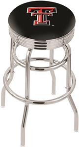 Texas Tech University Ribbed Double-Ring Bar Stool
