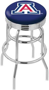 University of Arizona Ribbed Double-Ring Bar Stool