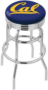University California Ribbed Double-Ring Bar Stool