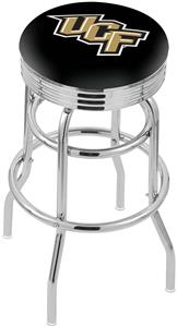 Univ Central Florida Ribbed Double-Ring Bar Stool