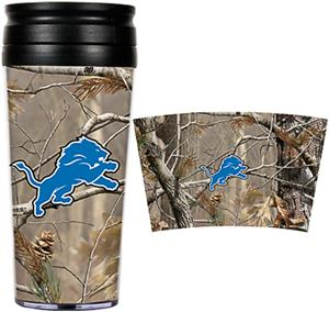 NFL Detroit Lions 16oz Realtree Travel Tumbler