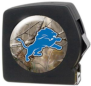NFL Detroit Lions 25' RealTree Tape Measure