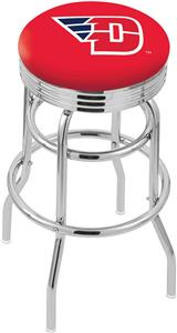 University of Dayton Ribbed Double-Ring Bar Stool