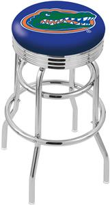University of Florida Ribbed Double-Ring Bar Stool