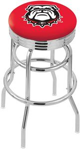 Univ Georgia Bulldog Ribbed Double-Ring Bar Stool