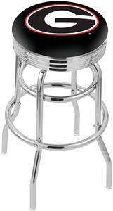 "Univ of Georgia ""G"" Ribbed Double-Ring Bar Stool"