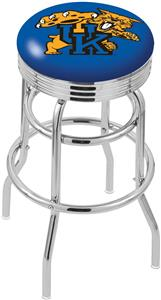 Univ of Kentucky Cat Ribbed Double-Ring Bar Stool