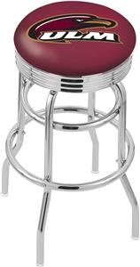Univ Louisiana Monroe Ribbed Double-Ring Bar Stool