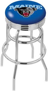 University of Maine Ribbed Double-Ring Bar Stool