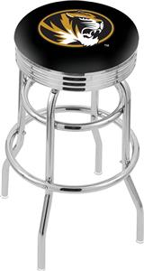 Univ of Missouri Ribbed Double-Ring Bar Stool