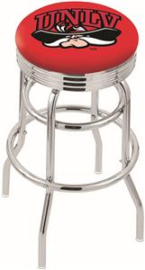 Univ Nevada Las Vegas Ribbed Double-Ring Bar Stool