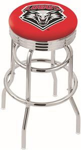 Univ of New Mexico Ribbed Double-Ring Bar Stool