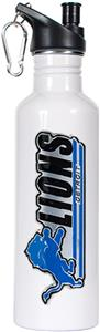 NFL Detroit Lions White Stainless Water Bottle