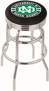 Univ North Dakota Ribbed Double-Ring Bar Stool